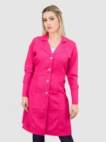 Jaleco Feminino c/ punho - Pink