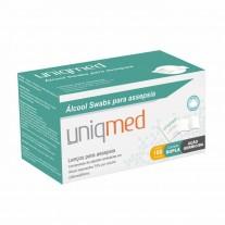 Lenço para Assepsia - Álcool Swab - Uniqmed - C/ 100 unidades
