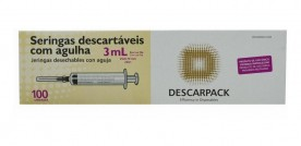 Seringa Descartavel com Agulha Descarpack - Cx. com 100un.