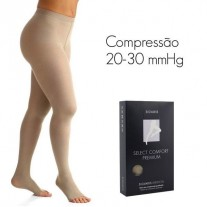Meia Calça Sigvaris Select Comfort Premium Calça 20-30 mmHg Ponteira Aberta