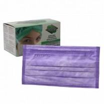 Mascara Cirúrgica Lilás Descartável - Protdesc - CX C/ 50